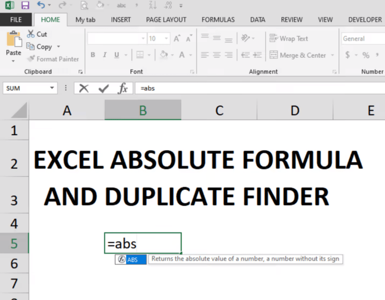 excel absolute formula
